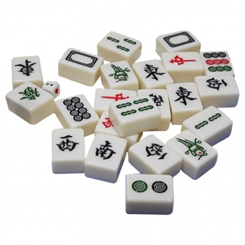 Traditional Jade Mahjong Tiles Set