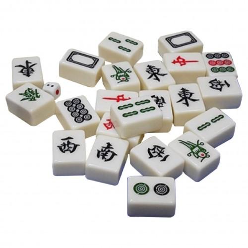 Traditional Jade Mahjong Tiles Set