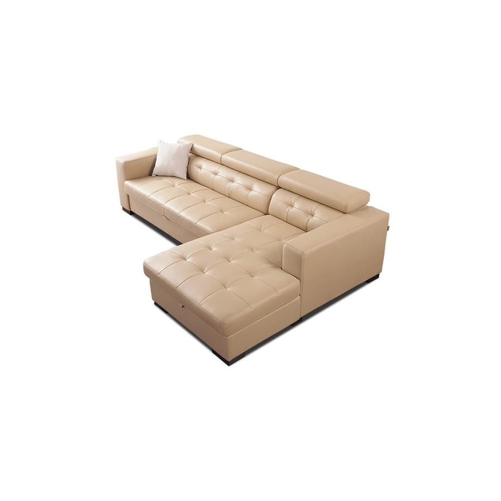 FLORA L-Shape Sectional Storage Sofa Bed