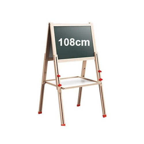 Foldable Standing Double-Sided Magnetic Drawing Board - 108cm