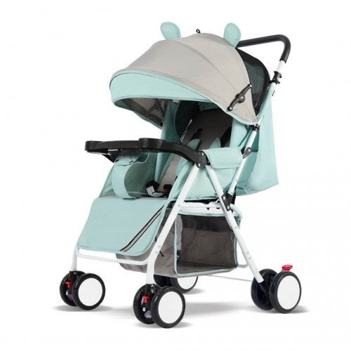 Modern Cartoon Baby Stroller (Green)