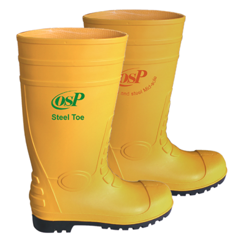 PVC Rain Boot - Steel Toe & Mid-Sole