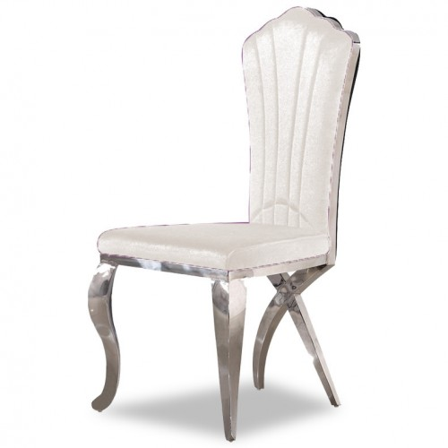Campache III. Velvet Grand Dining Chair (Ivory)
