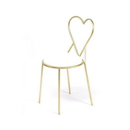 Lovely Heart Designer Chair (White)