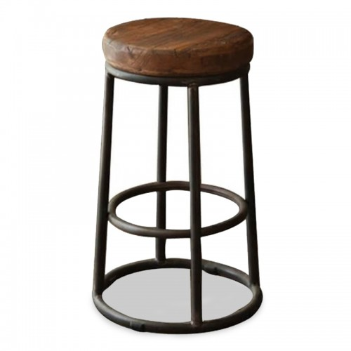 RT-09 Solid Wood Retro Bar Stool