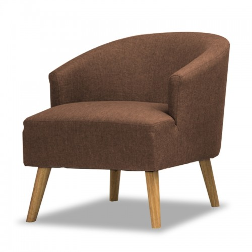 CATALIS Fabric Lounge Chair (Coffee Brown)