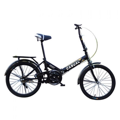 Casual Foldable Bicycle in Black (20 Inch-Single Gear)