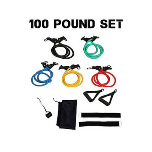100 Pounds Resistance Tube Set