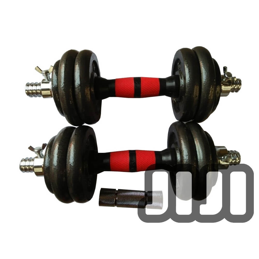 15kg Cast Iron Dumbbells Set