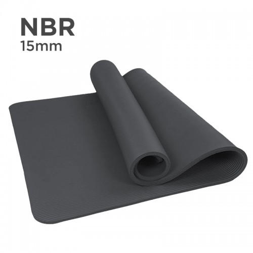NBR 15mm Yoga Mat (Black)