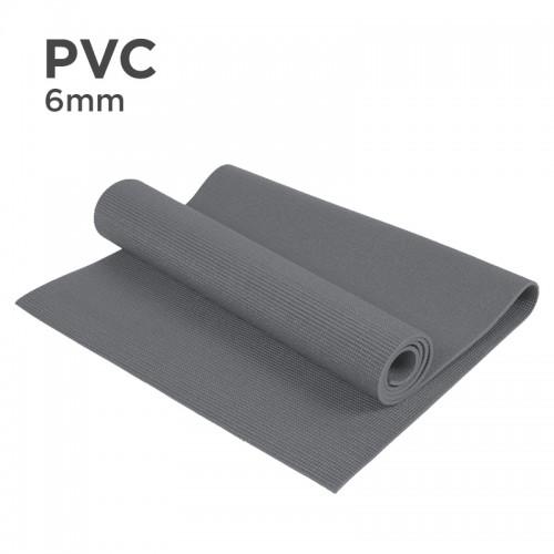 PVC 6mm Yoga Mat (Grey)