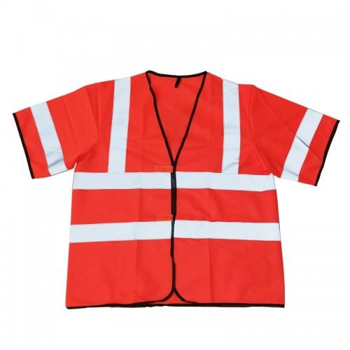Safety Vest with Short Sleeve (Orange)