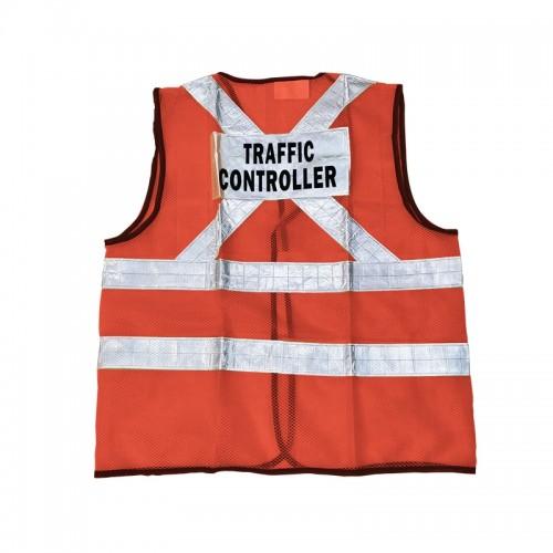 Safety Vest (Traffic Controller) (Orange)