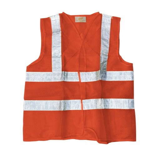 Safety Vest with silver tape (Orange)
