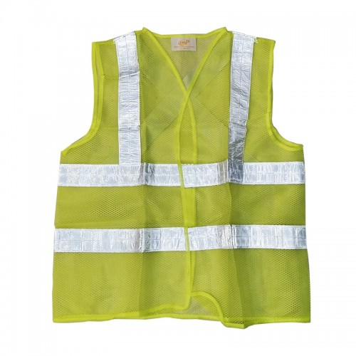 Safety Vest with silver tape (Green)
