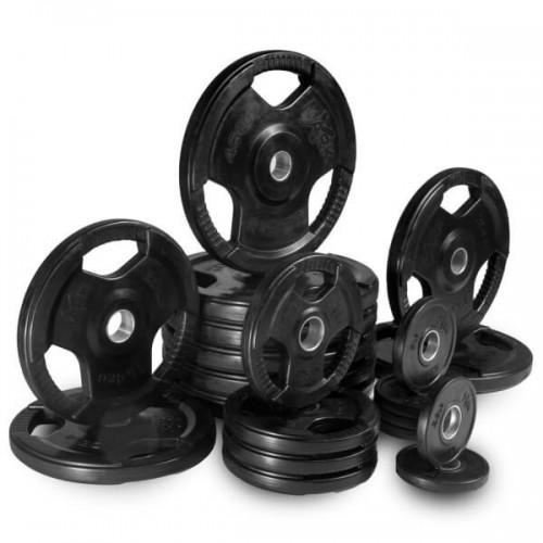 OP Olympic Tri-Grip Rubberised Plates w Internal Metal Ring (2 Inch)