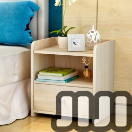 Kendall Bedside Table 【Single Drawer】