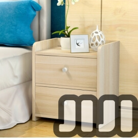 Kendall Bedside Table 【Dual Drawers】
