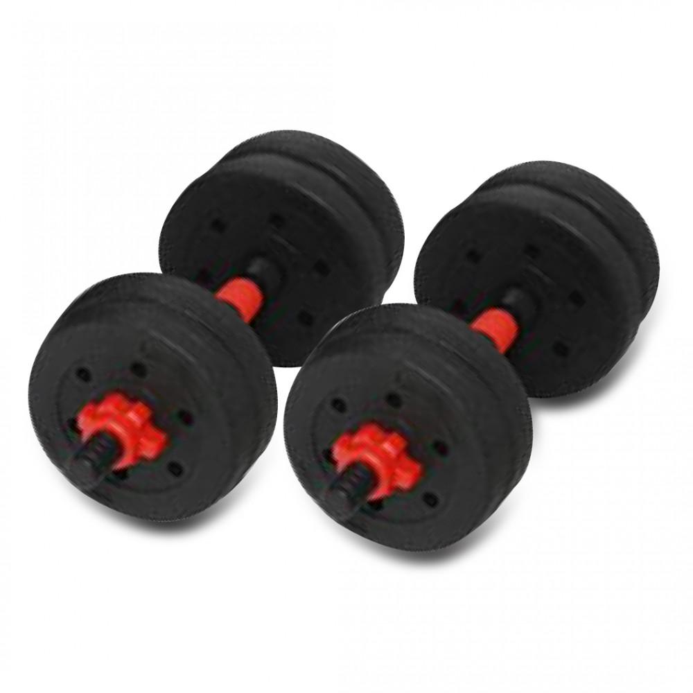 Black 10KG Versatile Dumbbell Set