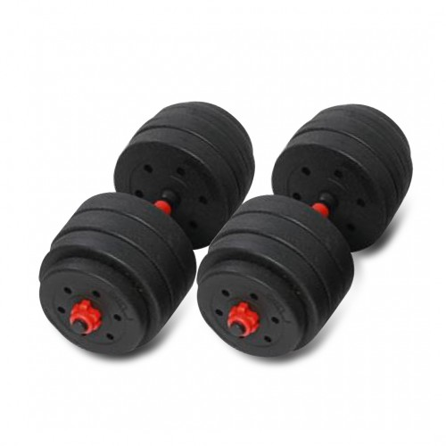 Black 40KG Versatile Dumbbell Set