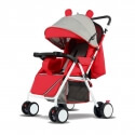 Modern Cartoon Baby Stroller (Red)