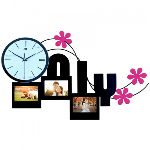 Only Love Photoframe Hanging Wall Clock