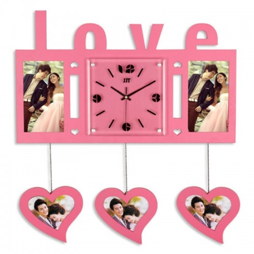 Eternal Love Photoframe Hanging Wall Clock