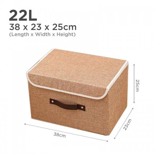 Premium 22L Clothes Storage Closet Organizer (Coffee)