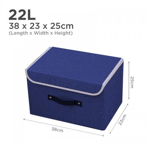 Premium 22L Clothes Storage Closet Organizer (Navy Blue)