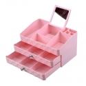 ABS Series Desk Organizer (MKT-13) (Pink)