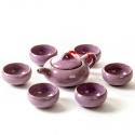 Basic Ceramic 6PCs Teapot Set (Purple)