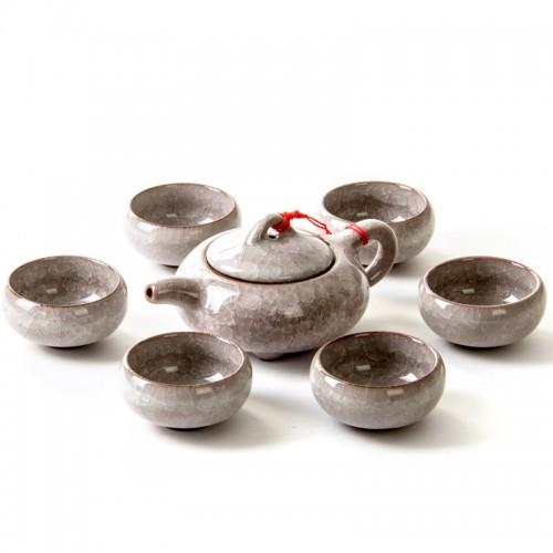 Basic Ceramic 6PCs Teapot Set (Grey)