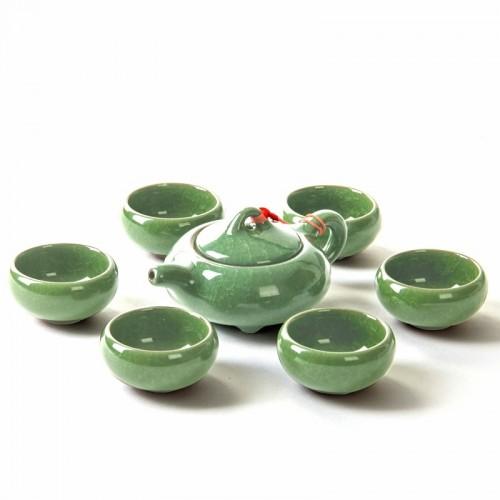 Basic Ceramic 6PCs Teapot Set (Green)