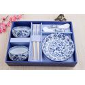 Hand-Painted Blue & White Ceramic Dining Set【青花 7件套】