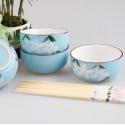 Hand-Painted Floral Ceramic Dining Set 【手绘大花】