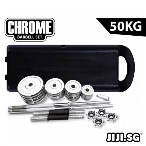 Chrome 50KG Barbell Set