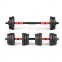 Black 30KG Versatile Dumbbell Set