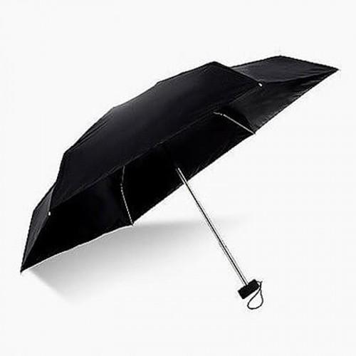 Super Mini Manual 5-Fold Umbrella (Black)