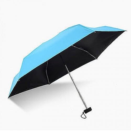 Super Mini Manual 5-Fold Umbrella (Blue)