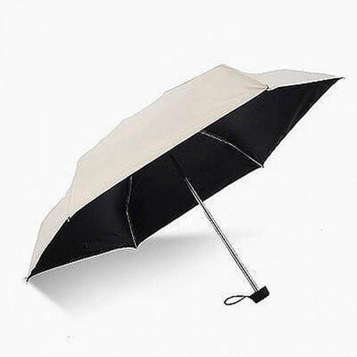 Super Mini Manual 5-Fold Umbrella (White)
