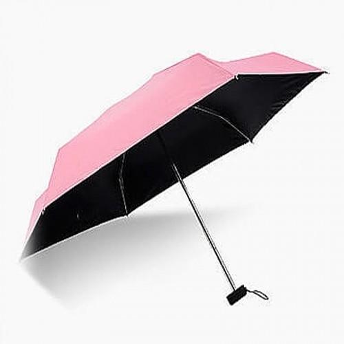 Super Mini Manual 5-Fold Umbrella (Pink)