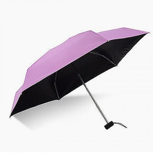Super Mini Manual 5-Fold Umbrella (Purple)