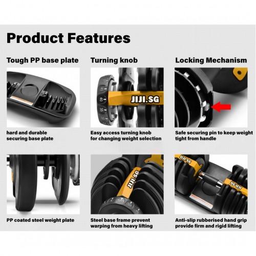 FlexiCURL Pro 80KG Adjustable Dumbbell Set