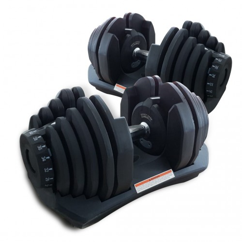 FlexiCURL Pro 80KG Adjustable Dumbbell Set