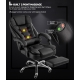 BOSS Office Chair with Leg Rest (Black)