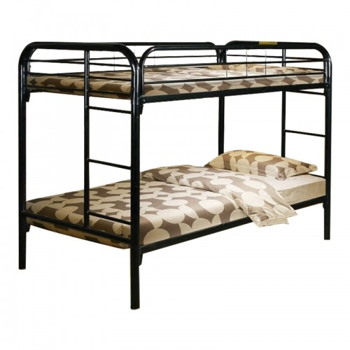 DUBIN Metal Double Deck Bed (White)