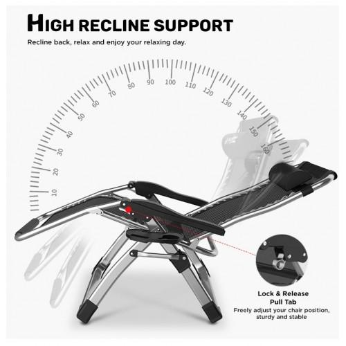(Folding & Reclining) Velma Reclining Leisure Chair in Black