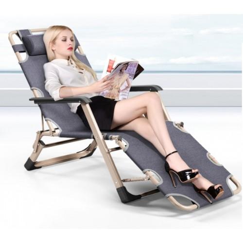 Premium Folding Reclining Leisure Chair (Navy)