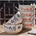 Japanese Ceramic Elementary 4 Pcs Dishware Set - snow glaze