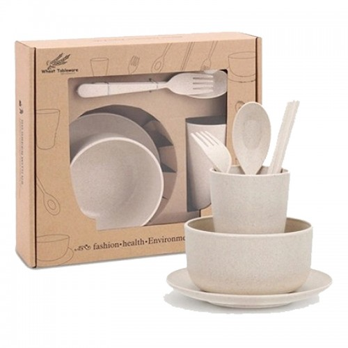 Wheat Bowl Kids 6PCs Dishware - Dinnerware